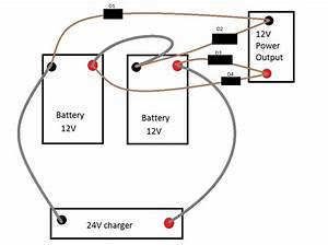 batteries charge at 24v and discharge at 12v for battery With parallel batteries