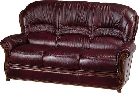 Esf Sara Full Italian Leather Sofa Made In Italy Usa