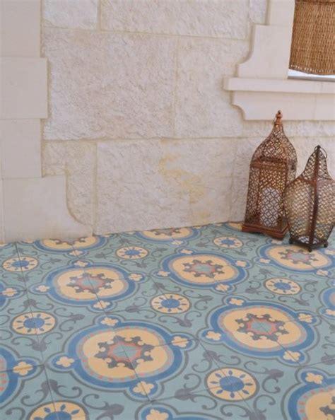sabine hill cement encaustic tile mediterranean