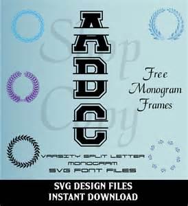 Split Letter Monogram SVG Files Free