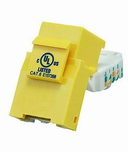 Cat6 Rj45 8p8c Tool Less Keystone Jack For Solid Ethernet Network Cables Yellow