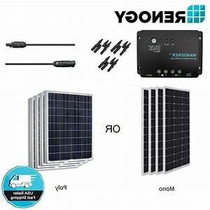 Renogy 400w 12v Solar Panel Bundle Kit Off