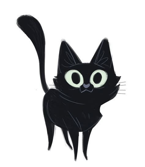 black cat drawing ideas  pinterest black cat