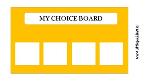 choice board template communication printable the puddins