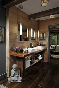 les beaux exemples de salle de bain rustique 40 photos With salle de bain rustique