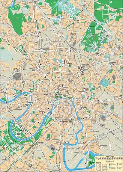 Moscow Map English Maps Detailed Russia Road
