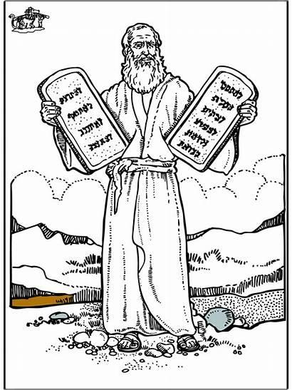 Testament Moses Altes Mose Disegni Coloring Colorare