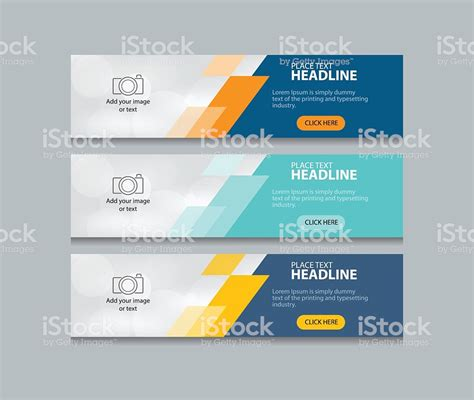 abstract web banner design template background set stock vector art  images  abstract