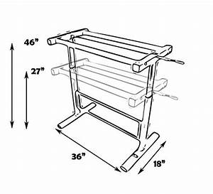 Manual Height Adjustable Standing Desk Leg Frame  Stand Up