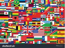 World Flags Background Stock Vector 156295739 Shutterstock