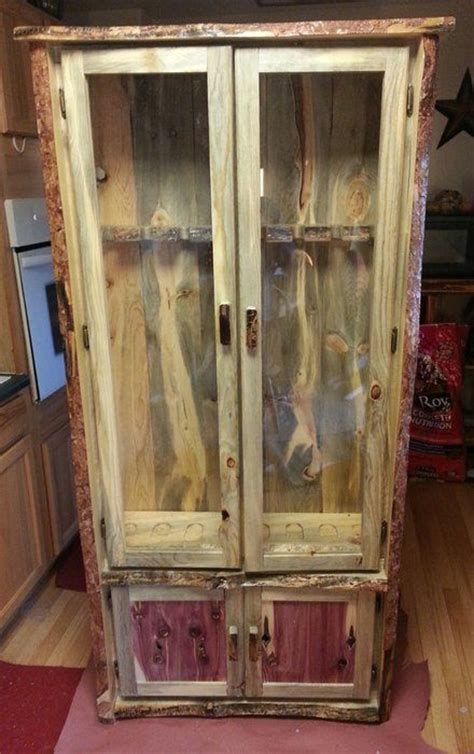 pallet wood gun cabinet plans gun cabinet by monte pittman lumberjocks com