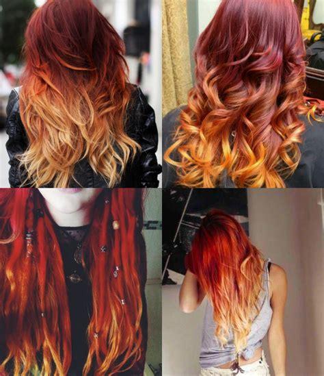 fire ombre hair  ruivo tendencia pausa  feminices