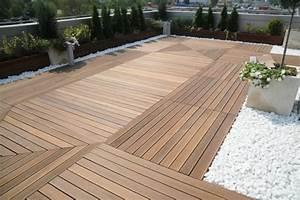 Steine Für Aussenbereich : terrassenboden aus teakholz moderne l sung f r ihren ~ Michelbontemps.com Haus und Dekorationen