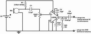 how to connect a microphone to an arduino schemetic use With diyprototypepaperpcbuniversalboardcircuitboardbreadboardtgs