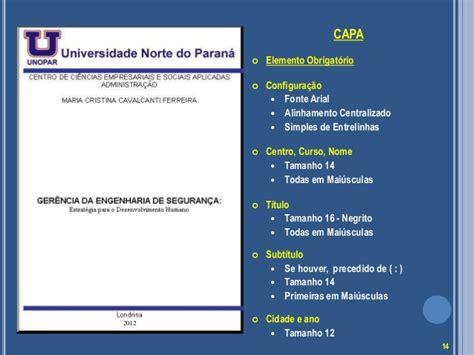 normas da abnt parte 2 de informática cursos normas da abnt para tcc unopar