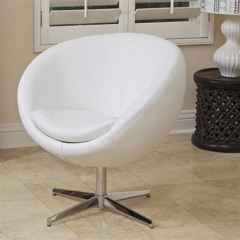 trent home daniel leather egg chair  white cy