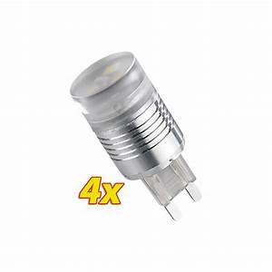 Ampoule Led G9 Blanc Froid : 4 ampoules 3 led g9 blanc froid ~ Melissatoandfro.com Idées de Décoration