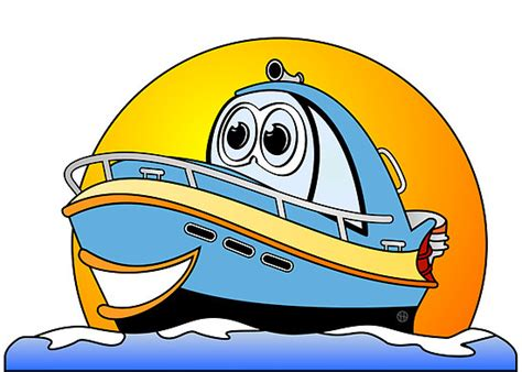 Motor Boat Cartoon Images by Cartoon Boat Clipart Best