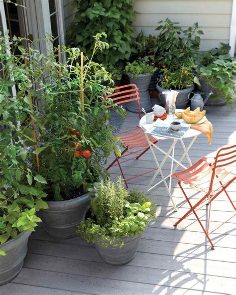Small Patio Garden by Small Space Garden Ideas Martha Stewart