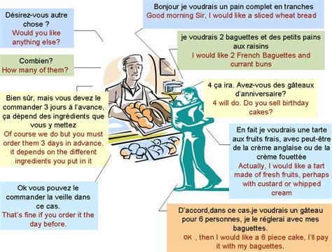 faire la cuisine en anglais dialogue at the baker 39 s