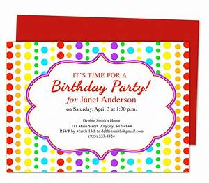 kids party invitations template