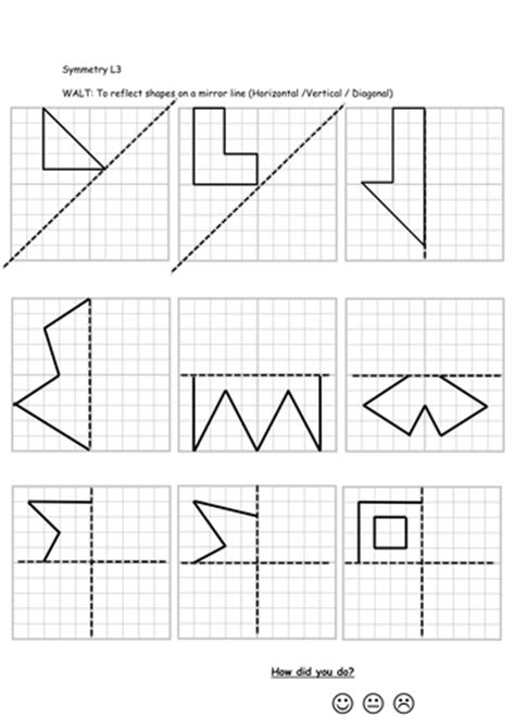 reflective symmetry worksheets by callen5 teaching