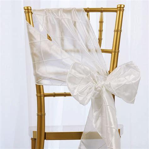 pintuck chair sashes bows ties banquet wedding reception