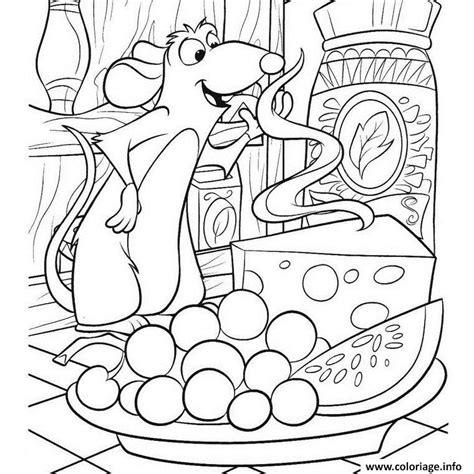 dessin de cuisine à imprimer coloriage souris fromage dessin