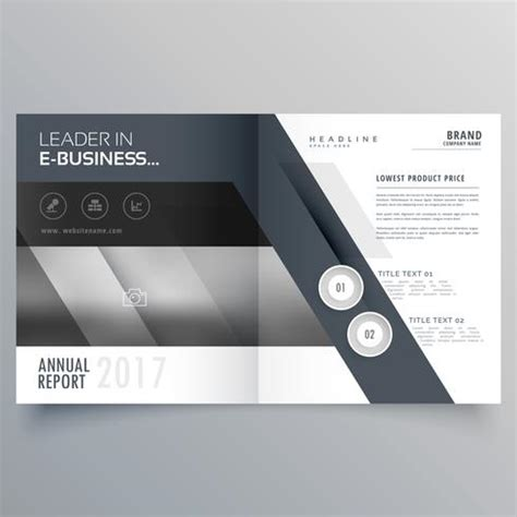 Bi Fold Brochure Design Templates Gray Bi Fold Business Brochure Design Template