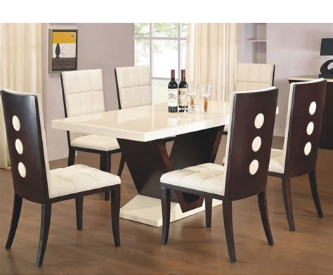 arta marble dining table and chairs