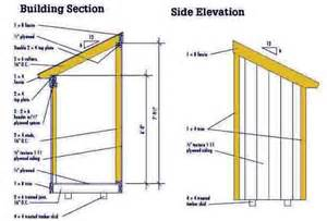 4 215 6 lean to shed plans blueprints for a small shed