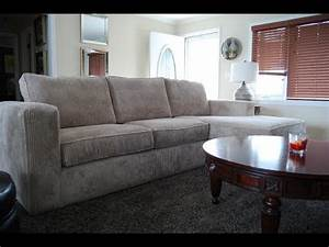 Low back sectional sofa youtube for Sectional sofa low back