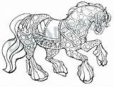 Draft Horse Coloring Pages Running Printable Getcolorings Getdrawings sketch template