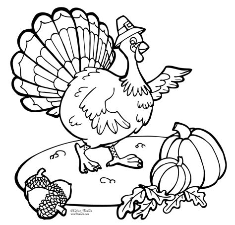 Coloring A Turkey by Printable Thanksgiving Turkey Coloring Page