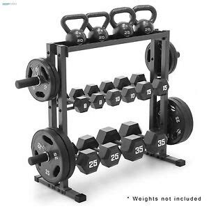olympic dumbbell rack gym plates stand fitness equipment weight lifting storage ebay