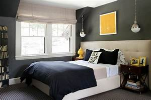 Wonderful chic gray blue bedroom design photos with