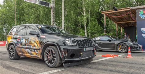 srt8 jeep modified jeep srt8 turbo vs porsche 911 turbo s youtube
