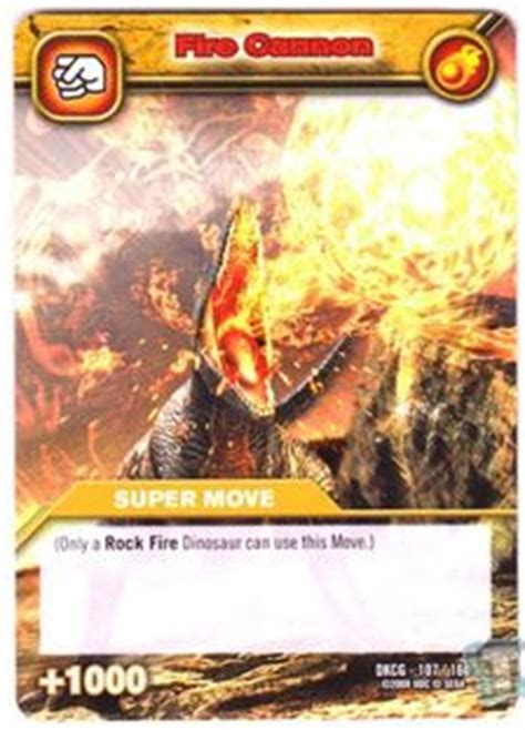 game card fire cannon dinosaur king tcg series  base