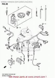 Suzuki Gsf1200 Bandit 2001  K1  Usa  E03  Wiring Harness