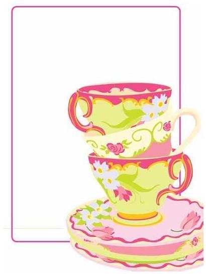 Tea Party Printable Invitations Blank Fancy Clipart