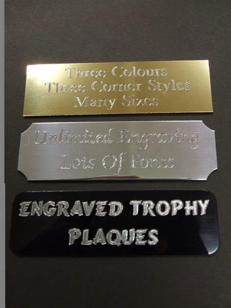 engraved  adhesive trophy plaque plaques plate award picture film cells ebay