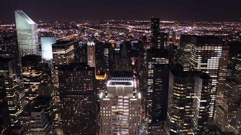 usa  york night city view