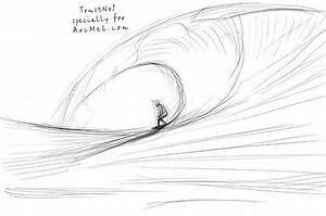 How to draw waves step by step | ARCMEL.COM