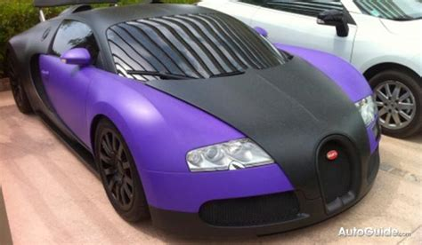 matte black  blue bugatti veyron surfaces  france