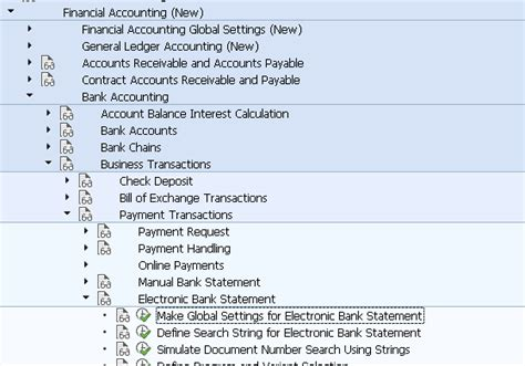 Make Global Settings For Electronic Bank Statement