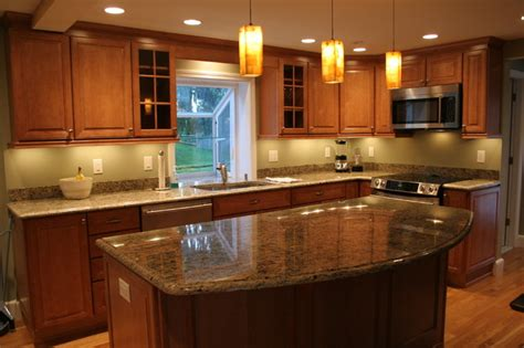 labelle cabinetry lighting merillat labelle toffee maple traditional kitchen