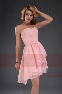 short strapless evening dress nice salmon c459 With robe saumon