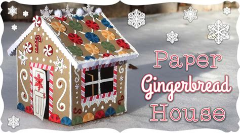 Paper Gingerbread House Tutorial!  Craftmas 🍬 Youtube