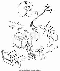 Gravely 40415 2 Wheel Tractor 5665  12hp  4 Sp Electric Start Parts Diagram For Electrical
