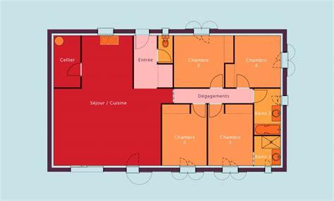 plans de maison plain pied 3 chambres plan maison 120m2 plain pied plan maison plain pied 3